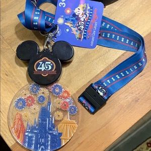 Disney Parks 45th Anniversary Light Up Lanyard🏰🎉
